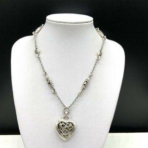 Brighton Heart Flower Pendant Chain Necklace